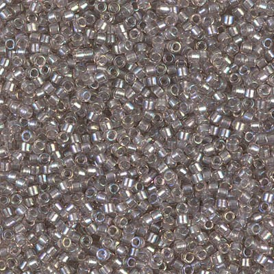 MIYUKI Delica Seed Beads DB1772 11/0 Round - Sparkling Pewter Lined Crystal AB DB-1772
