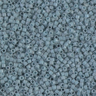 MIYUKI Delica Seed Beads DB2129 11/0 Round - Duracoat Dyed Opaque Moody Blue DB-2129