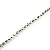 Designer Quality ball chain, bolletjes ketting, balletjesketting DQ ballchain MAS antiek zilverkleur 3mm