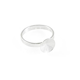Ring basis voor Swarovski Rivoli 1122 12mm 925 Sterling zilver