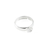 Ring basis voor Swarovski Rivoli 1122 6mm 925 Sterling zilver