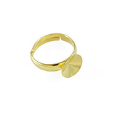 Ring basis voor Rivoli 1122 SS47 of 10mm 925 Sterling zilver 24K gold platied