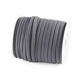 Elastisch Lint Ibiza 5mm wraparmbanden DIY ibiza armband Modi armbanden medium grijs