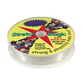 Pepperell Stretch Magic elastisch nylon transparant rol 25 meter