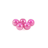 Glaskraal 6mm hard roze hoogglans
