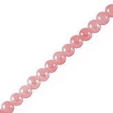 Glaskraal 6mm roze hoogglans