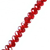 Facetkraal rondel 8mm rood