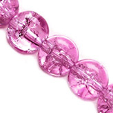 Crackle kralen rond 8mm roze
