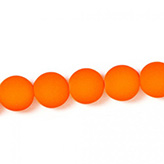 [GL3016] Glaskraal met coating 10mm neon oranje rood