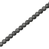 Hematiet kralen 4mm rond mat Anthracite grey