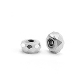 Hematite facet disk kraal 4x2mm Silver grey
