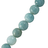 Jade facet rond Light Aquamarine Blue 8mm