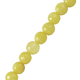 Jade facet rond Light lemon yellow 6mm