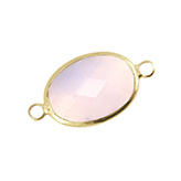 Crystal glas tussenstukken ovaal Light rose - gold