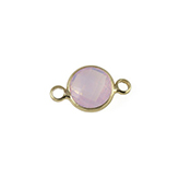 Crystal glas tussenstukken rond 8mm Crystal Light rose opal-gold