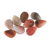 Halfedelsteen druppel 25mm Rose-brown opal