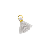 Hanger kwastje flosje flosjes tassel mini gold-Light mirage grey