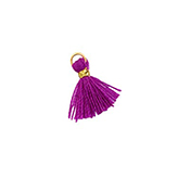 Hanger kwastje flosje flosjes tassel mini gold-Electric purple violet