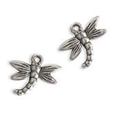 Metaal-look hanger libelle