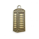 Hanger Britse telefooncel red telephonebox UK antiek brons
