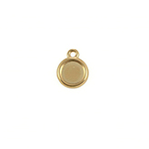 DQ Hanger cameo setting 12mm goud voor polaris cabochon