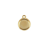 DQ Hanger cameo setting 15mm goud voor polaris cabochon