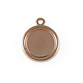 DQ Hanger cameo setting 20mm rose goud  voor polaris cabochon