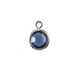 DQ Facethanger zilver met sapphire blue