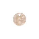 Resin hanger rond 12mm Light semolina beige