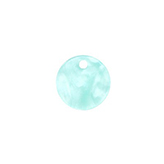 Resin hanger rond 12mm Bleached aqua