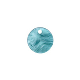 Resin hanger rond 12mm Blue atoll