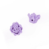 Fimo bloem 12mm violet purple