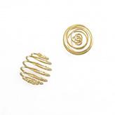 Spiraal kooitje voor kraal goud 15mm