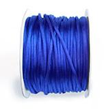 Satijn koord 2mm donkerblauw