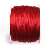 [KS0210] Satijn koord 2mm rood