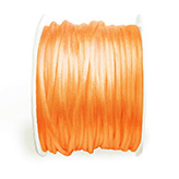 Satijn koord 2mm oranje