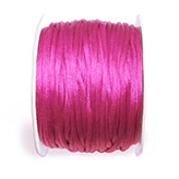 Satijn koord 2mm roze
