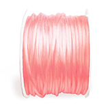 Satijn koord 2mm neon Rose peach
