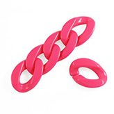 Chunky chain schakel acryl 30x21mm Hot Pink
