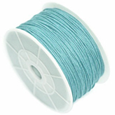 Waxkoord 1mm Aqua blue