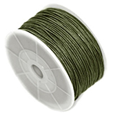Waxkoord 2mm army green
