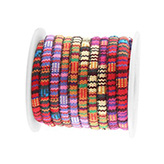 Aztec koord small 5x4mm Multicolor rood roze