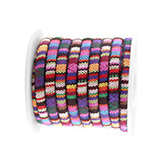 Aztec koord small 5x4mm Multicolor pink