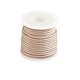 DQ Designer leer koord 2mm rond metallic Rose Dust