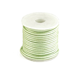 DQ Designer leer koord 2mm rond metallic Tender lime green
