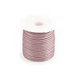 DQ Designer leer koord 2mm rond Rose Brown metallic