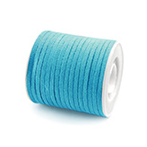 Suede veter 3mm turquoise blauw