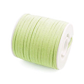 Suede veter 3mm lime