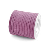 Faux suede veter 3mm lilac plum