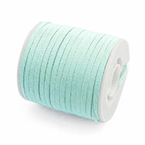 Faux suede veter 3mm Licht mint groen